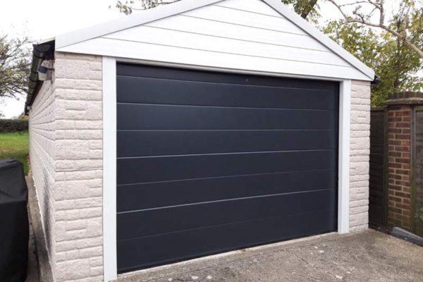 Sectional garage door black