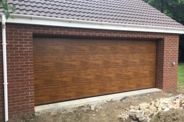 Double golden oak door