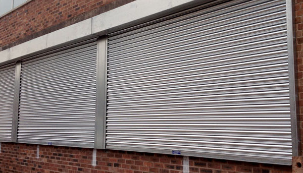Galvanised Shop front shutter