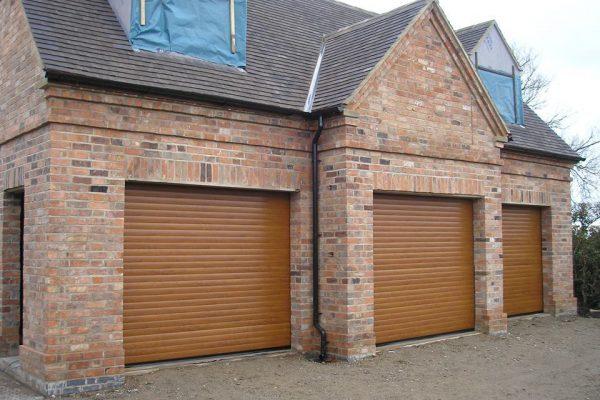 Oak Roller Garage Door
