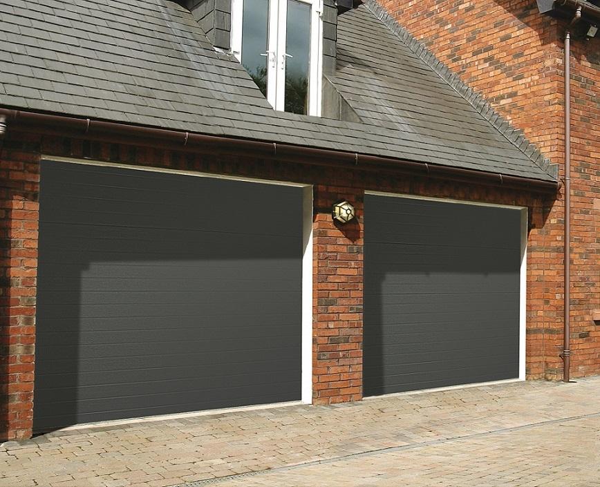 grey sectional garage doors