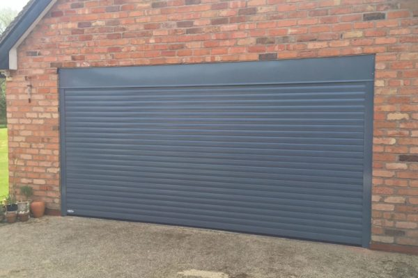 roller garage door grey