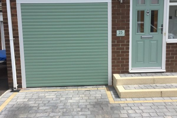 chartwell green garage doors