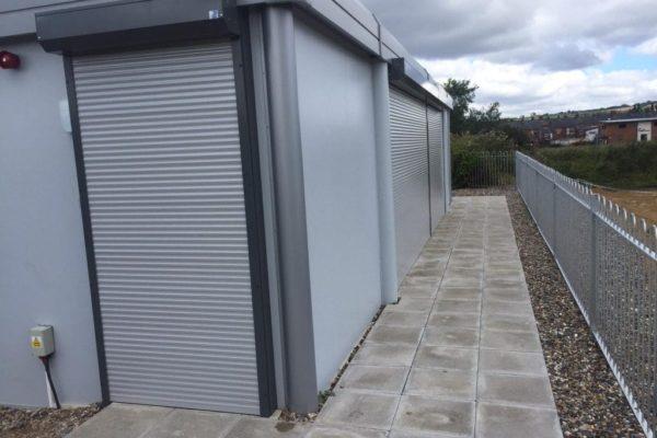 Industrial door grey
