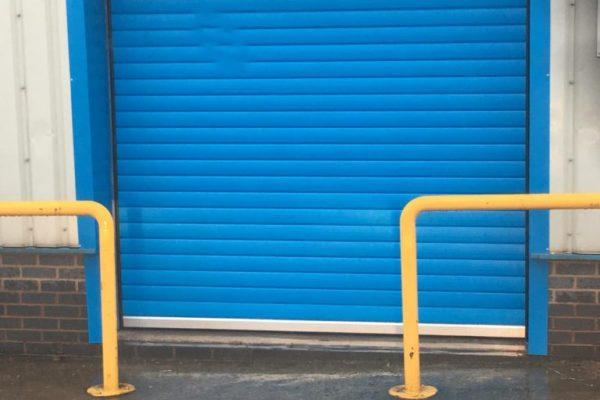 industrial door blue